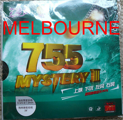 RITC755 Long-Pimple Table Tennis Rubber with Sponge, Deng Yaping, Melbourne