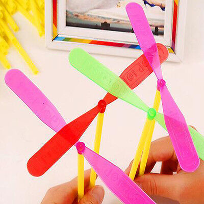 20Pc Wholesale Plastic Bamboo Dragonfly Propeller Fly Leaf Outdoor Toy Kids Gift