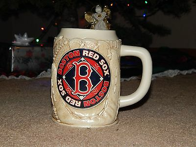 """RARE STEIN - BOSTON RED SOX BEER MUG UNLIDDED - COLLECTABLE - 5.5"""" tall GIFT"""