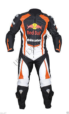 Redbull 1 & 2 piece Racing Motorbike Leather Suit with CE Approved Protector