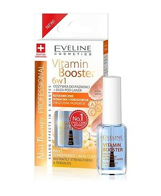 EVELINE COSMETICS NAIL THERAPY VITAMIN BOOSTER 6in1 NAIL CONDITIONER + BASE