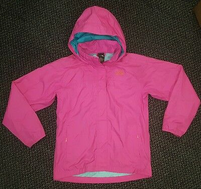 Genuine Girls The North Face Hooded Waterproof Jacket Size L/14-16