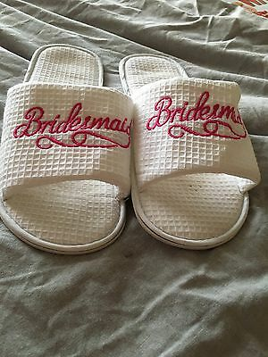 White Bridesmaid Slippers - Large