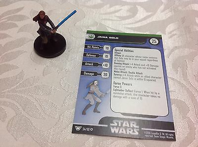 Star Wars Miniature with stat card ultra rare Jaina solo 54/60