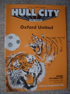 1975...HULL CITY v OXFORD UNITED....Division Two.......Football Programme