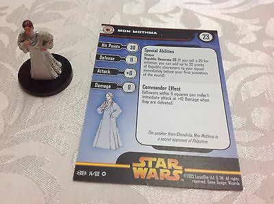 Star Wars Miniature with stat card ultra rare Mon Mothma 14/60