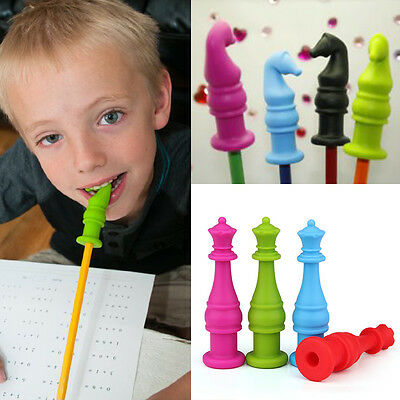 Chewable Pencil Topper Cap Sensory Motor Aid Perfect For ADHD Therapy Toys HOT