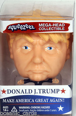 Donald J Trump Squeezeez Mega Head Collectable Rubber Squeeze Stress Relief Toy
