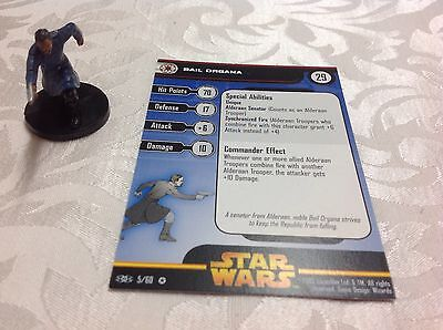 Star Wars Miniature with stat card ultra rare Bail Organa 5/60