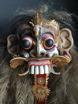 Rare Mythological Rangda Demon Queen Mask - Dance Theatre Bali