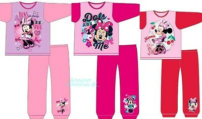 BNWT Official Disney Minnie Mouse Pyjamas 1-4y Red/Pink 100% COTTON Snuggle-Fit