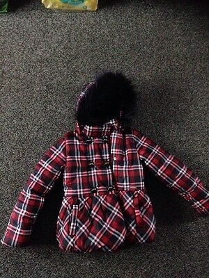 Girls Mayrol Tartan Coat