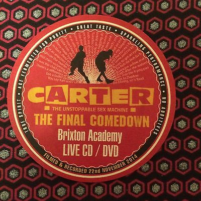 Carter USM - Coaster From The Final Comedown Live Set.  New Unused condition.