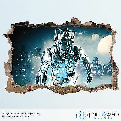 Dr Who Wall Smash Decal Sticker Bedroom Vinyl Kids Mural Art Cyberman