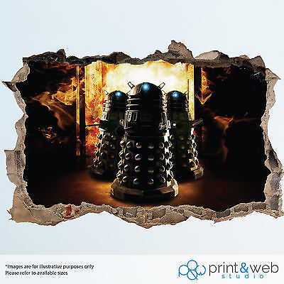 Dr Who Wall Smash Decal Sticker Bedroom Vinyl Kids Mural Art Dalek