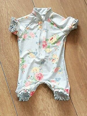 Baby Girls Floral Swimsuit Age 9-12 Months