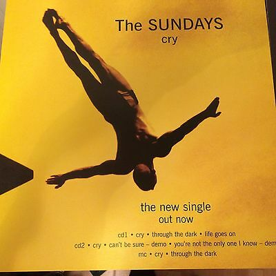 """The Sundays - Cry & Summertime - 2 Promotional 12"""" x 12"""" Card Posters"""