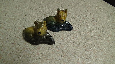Vintage Wade Whimsies Dogs Alsatians X2