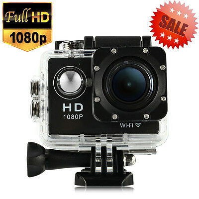 2'' WiFi HD1080P Bikes Helmet Cam Action Sport Camera DV Black 12MP UK