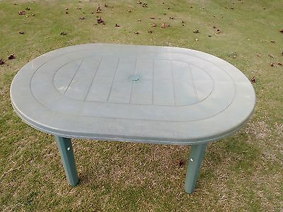 Large Oval Plastic Garden Table