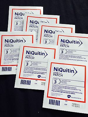 NiQuitin Invisible Clear 7 Mg Patch 24 Hour Step Three 3 Nicotine Patch X 7 Week