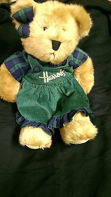Harrods Christmas Bear Collectible Girl Bow & Dress