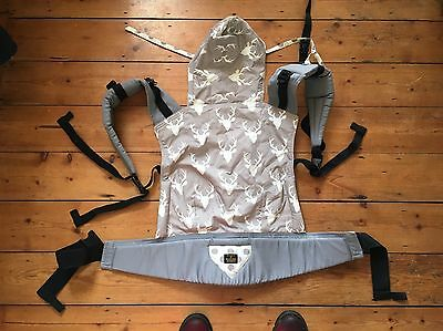 Madame Googoo Toddler Baby Carrier Genuine Excellent Cond Grey Reindeer Tula