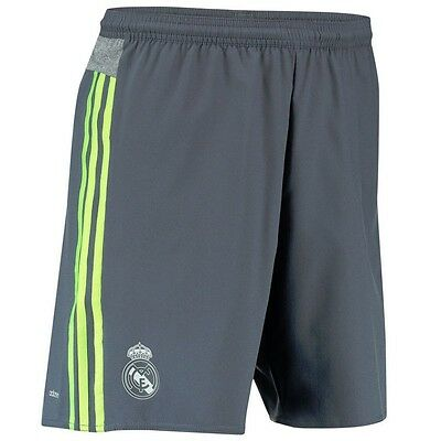 REAL A SHO GRY - Short Football Real Madrid Homme Adidas