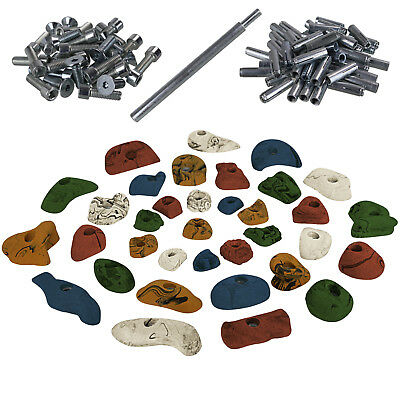 35 Climbing Holds Starter Set for Children + Fixation for non-cracked concrete