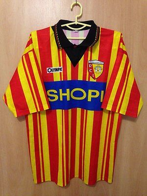 Lens Rcl France 1995/1996 Home Football Shirt Jersey Vintage Olympic