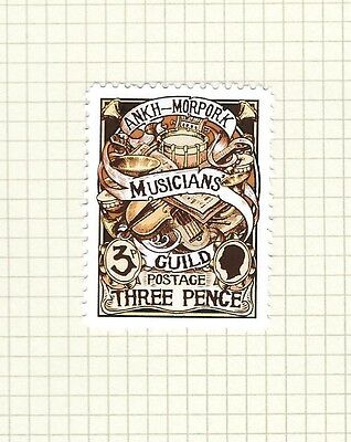 Discworld Stamp 2016 Limited Edition Musicians' Guild 3p Rare Retired Convention