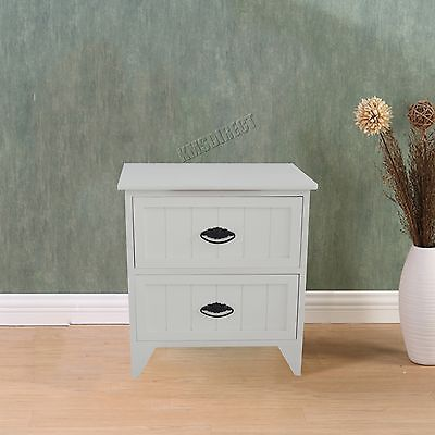FoxHunter Bedside Cabinet Unit Table With Drawer Storage Cupboard Bedroom BCU10