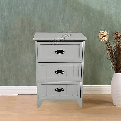 FoxHunter Bedside Cabinet Unit Table With Drawer Storage Cupboard Bedroom BCU11