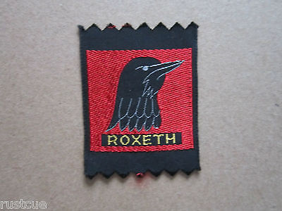 Roxeth Woven Cloth Patch Badge Boy Scouts Scouting