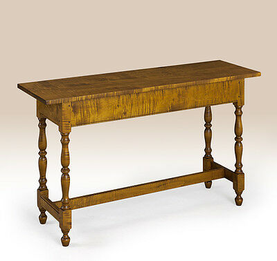 Tiger Maple Wood Sofa Table - Early American Style Hall Table - New Furniture