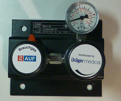 Argon Entnahmestelle / Druckminderer / Tapping point / Pressure regulator