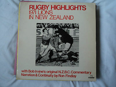RUGBY HIGHLIGHTS 1971 Lions in New Zealand BOB IRVINE /Ron Findlay DECCA stereo