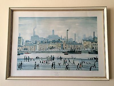 L S Lowry Signed Print & Dated 1976, Price Reduced