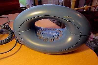 Vintage 1980'/90's Retro Styled Astral Metropolis Telephone - Blue Working
