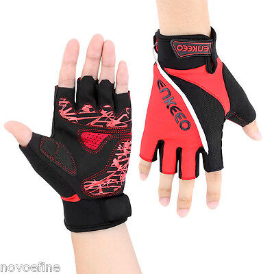 Cycling Bicycle Bike Gloves Sports Half Finger Shockproof w/LED Night Riding -XL