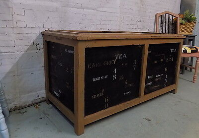 Industrial Themed Shabby Chic Painted   Large Wooden Chest Storage Box