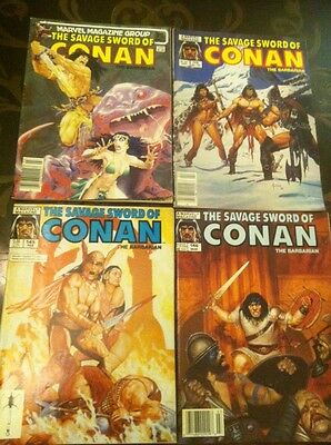 The Savage Sword Of Conan The Barbarian Issues # 98, 121,145& 146 LOOK!