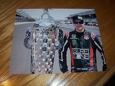 Kurt Busch Signed 8x10 Indy 500 Photo Autographed with COA