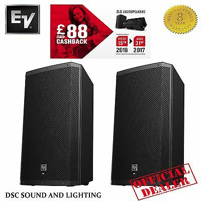 """Electrovoice Ev Zlx15P 15"""" Two-Way 1000W Active Pa Dj  Band Speakers ( Pair )"""