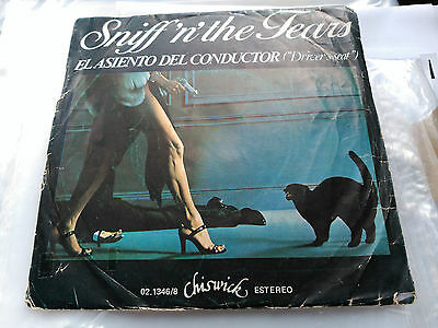 Sniff'n'the Tears - El Asiento Del Conductor (Driver's Seat) - Spain 1978 G/vg+