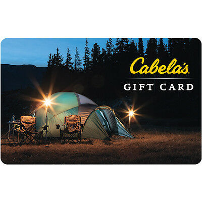 $25 Cabela's Physical Gift Card - FREE Standard 1st Class Mail Delivery