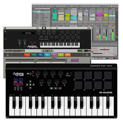M-Audio Axiom AIR Mini 32 USB MIDI Keyboard Controller + Ignite Music Software