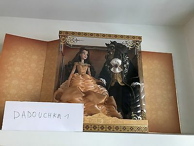 limited doll beauty and the beast belle disney LE 500 platinum set dolls