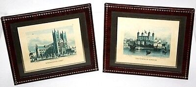 "A pair of Framed Print ""THE TOWER OF LONDON"" & ""WESTMINSTER ABBY""  [PL1327]"