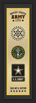 United States Army 1775 Heritage Banner Framed & Matted 12 x 36